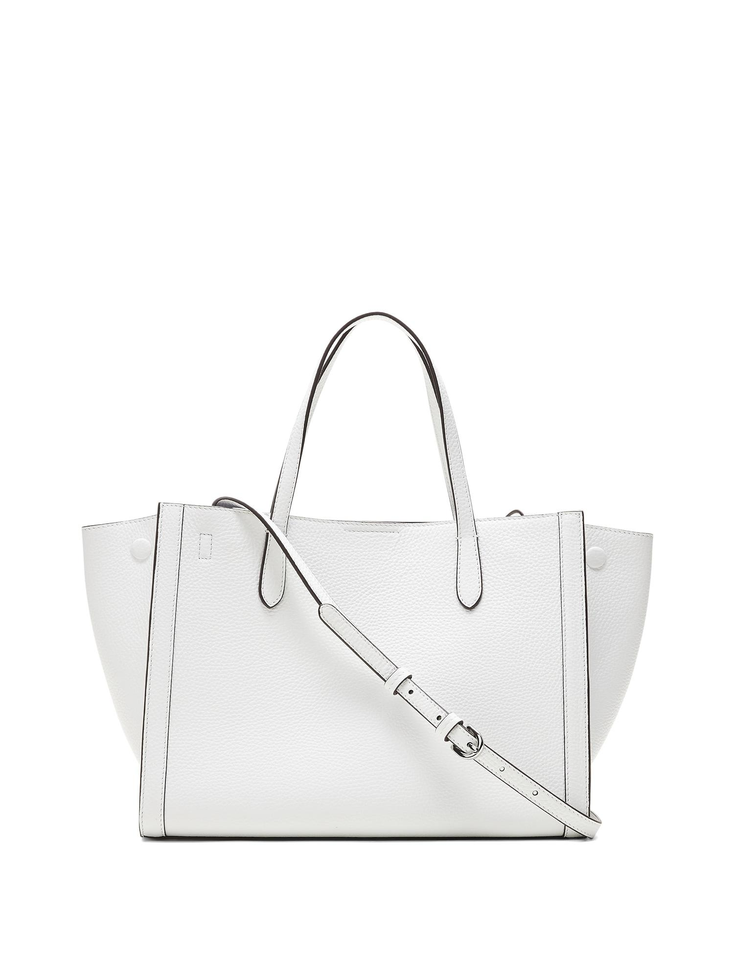 2e23ae92a2c7 Lyst - Banana Republic Italian Leather Medium Tailored Tote Bag in White