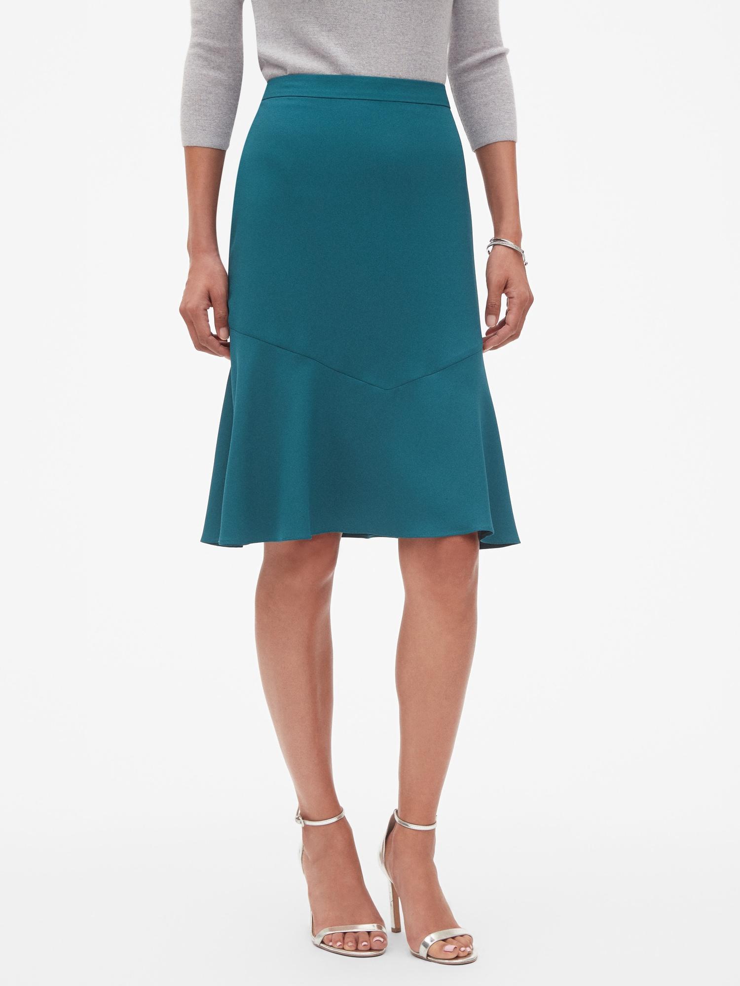 b55199b719 Lyst - Banana Republic Factory Flounce Hem Skirt in Blue