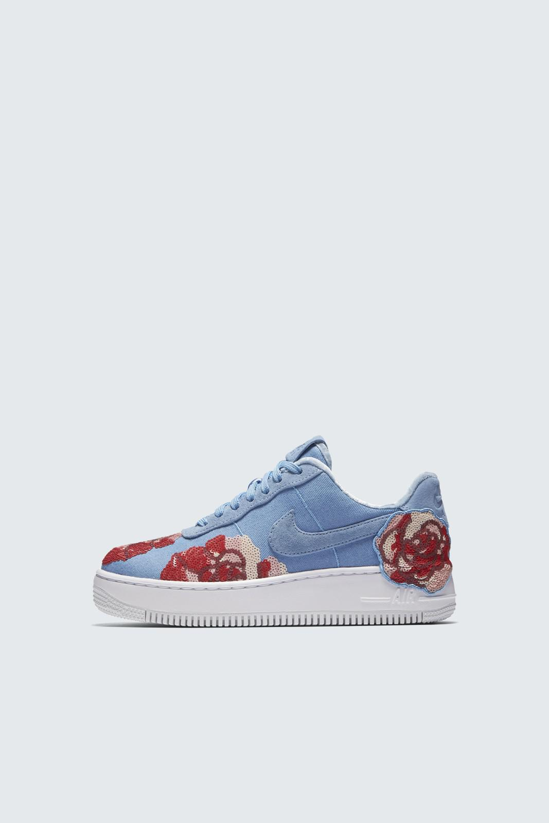 half off 69714 bd6ca ... Nike - Blue Air Force 1 Upstep Lux Shoe - Lyst.