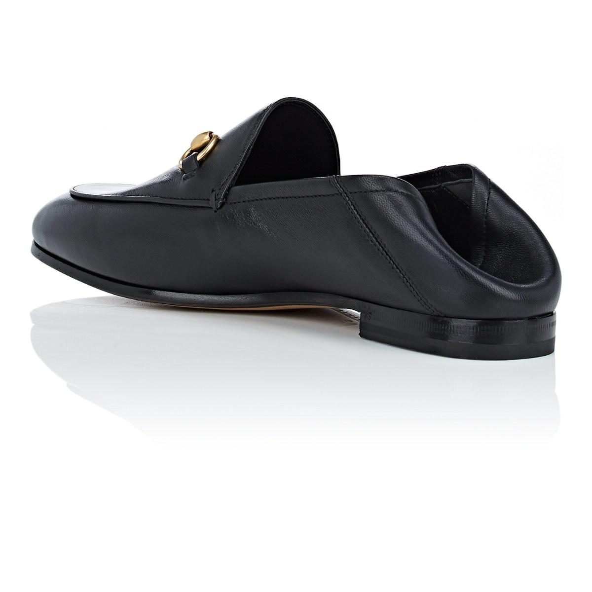 a7a53ea0735 Gucci - Black Brixton Leather Loafers - Lyst. View fullscreen