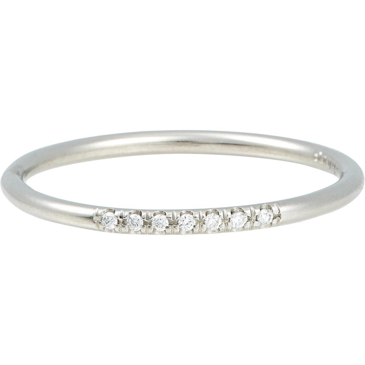 Womens White Diamond Threadband Zoe Ewokw
