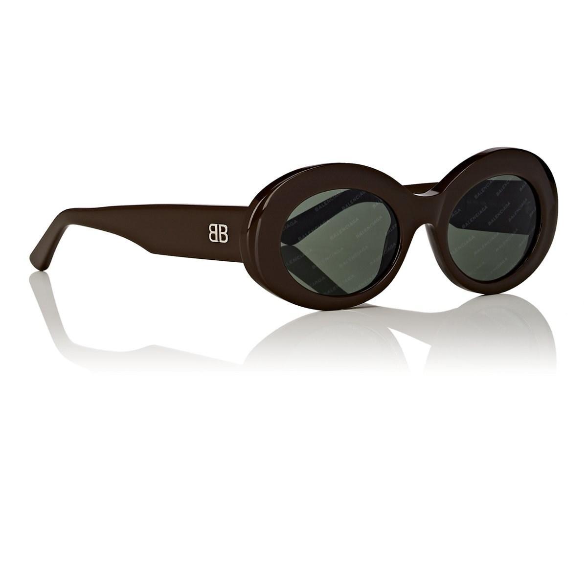 497b41e811ac8 Balenciaga Ba145 Sunglasses in Brown - Lyst