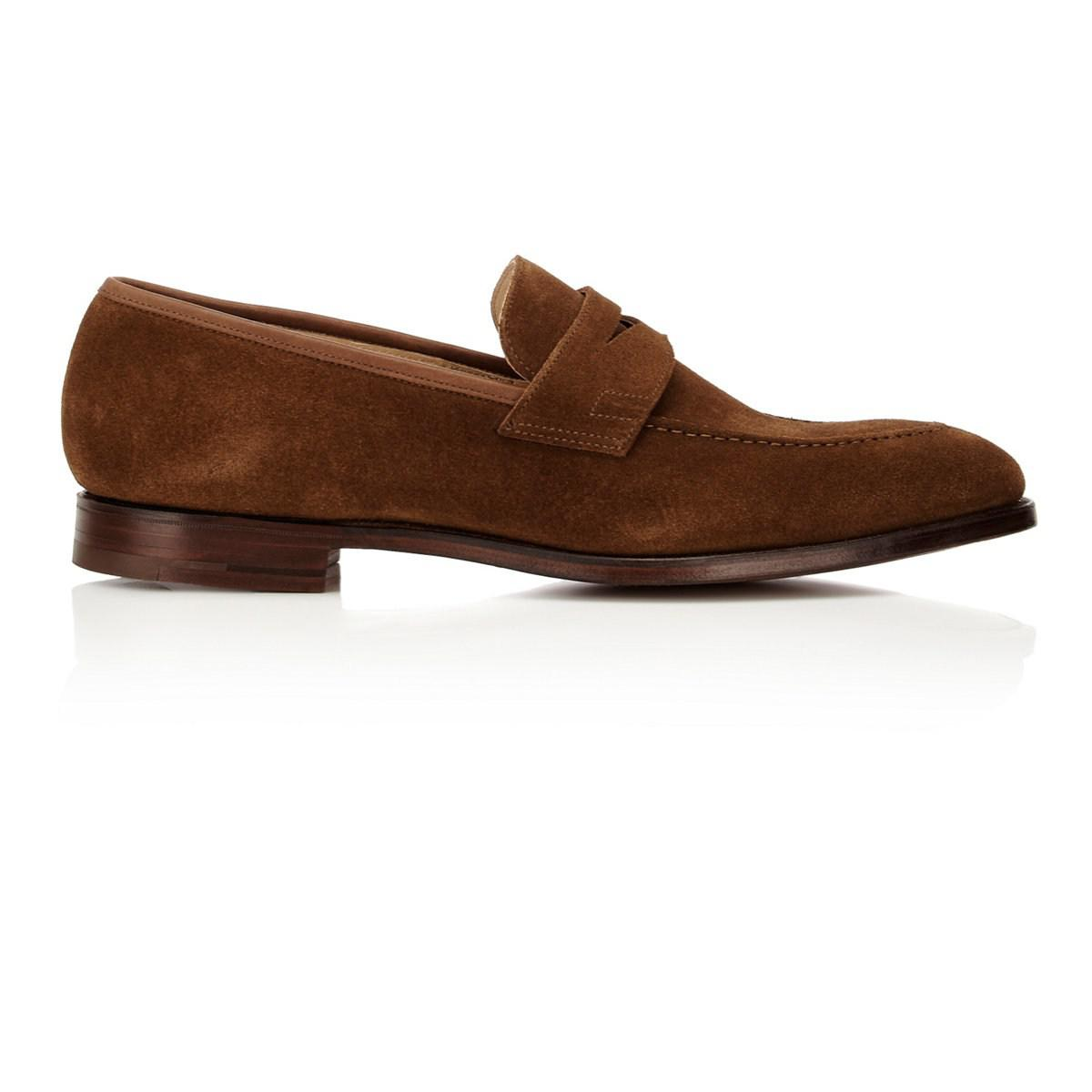 5470af121cc3a Lyst - Crockett and Jones Sydney Penny Loafers in Brown for Men ...