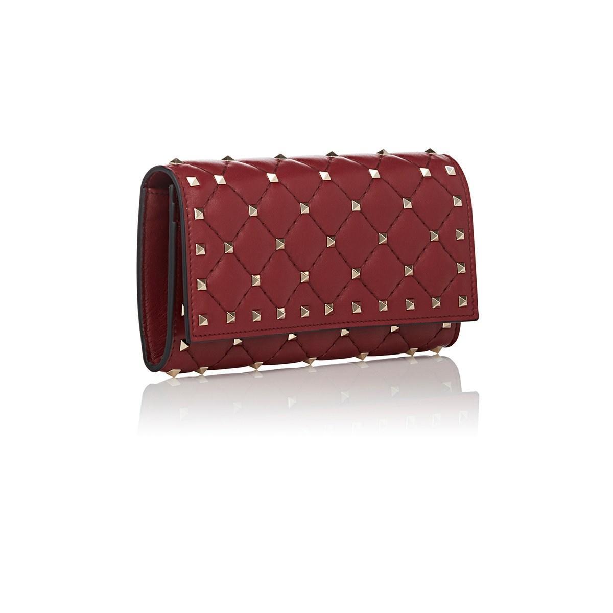 246c9ee8339b Valentino - Red Rockstud Continental Wallet - Lyst. View fullscreen