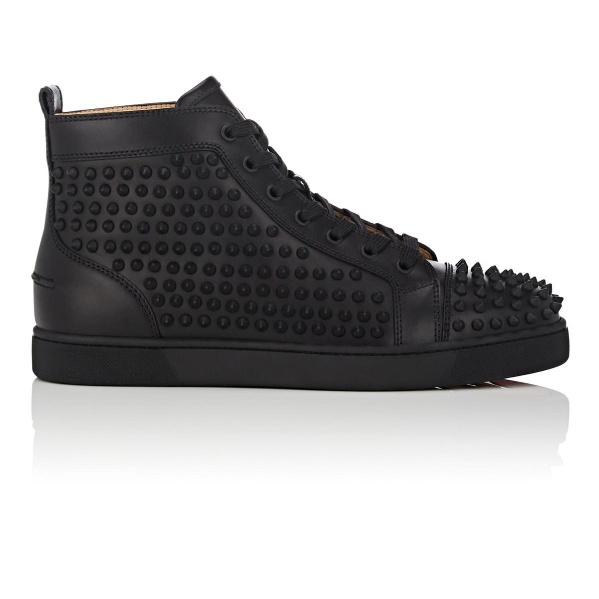 680283571a2 Christian Louboutin Yang Louis Flat Leather Sneakers in Black for ...