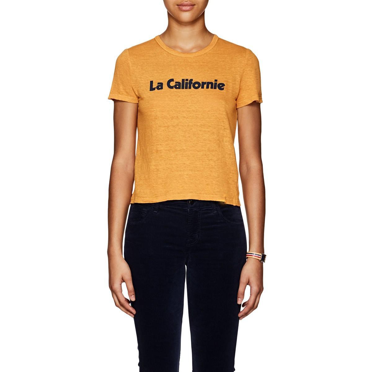 3f9a252e3fe9 Lyst - A.L.C. la Californie Linen T in Metallic
