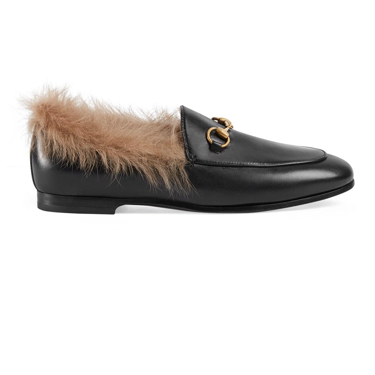 8c28edc8629 Gucci Jordaan Leather Loafers in Black - Lyst