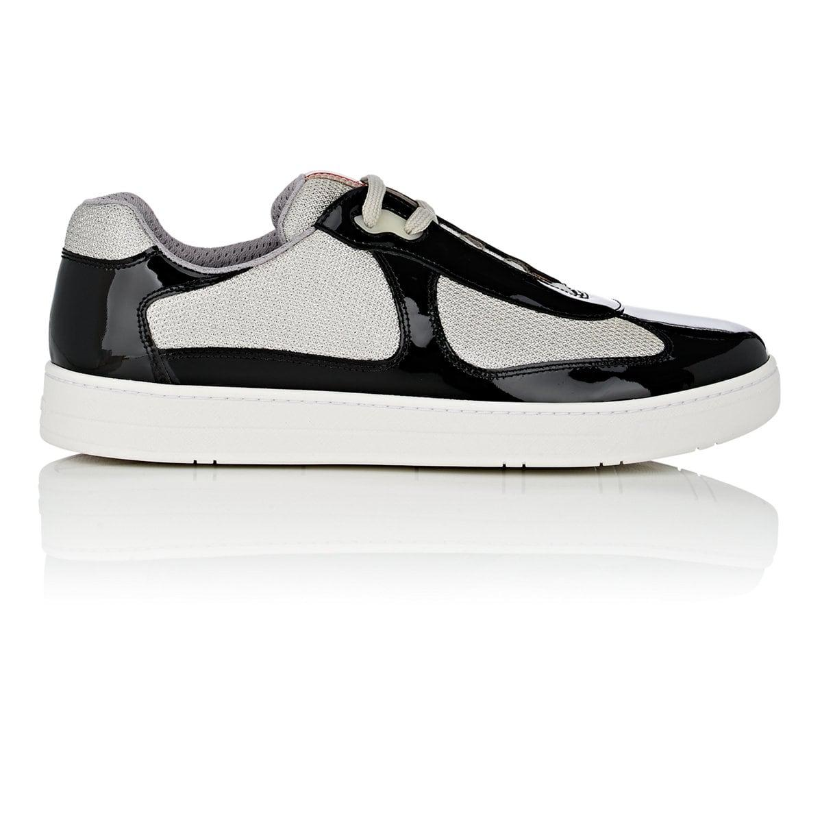Sneakers R261 patent leather suede Contrast stitching Logo black silver Hogan