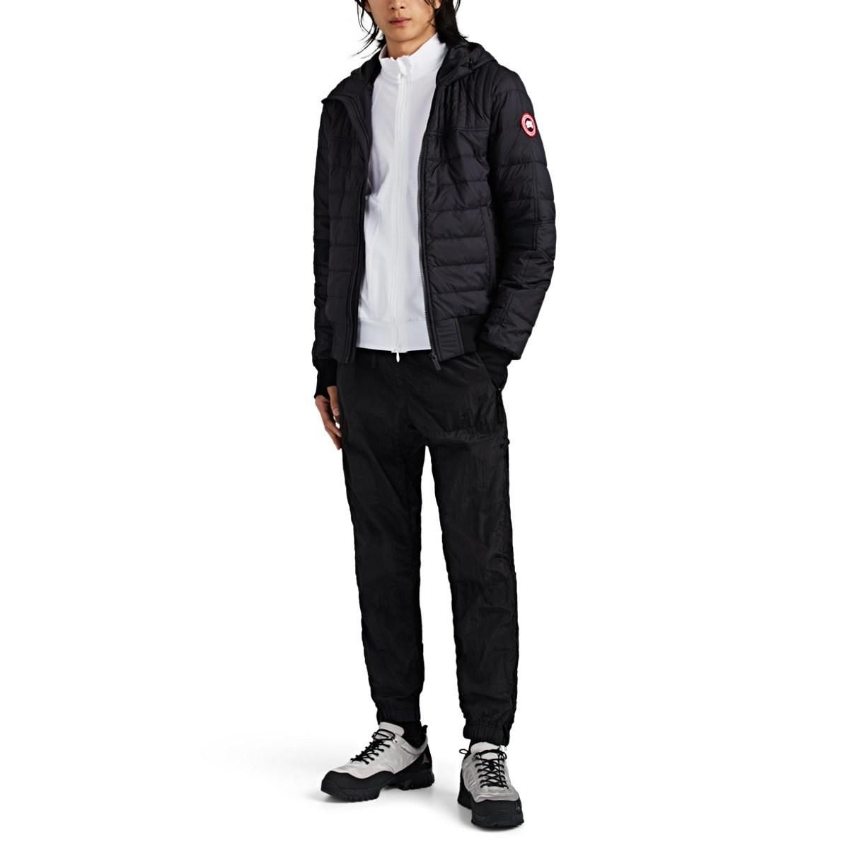 28c06f20e3a3 Canada Goose - Black Cabri Quilted Ripstop Hooded Jacket for Men - Lyst.  View fullscreen