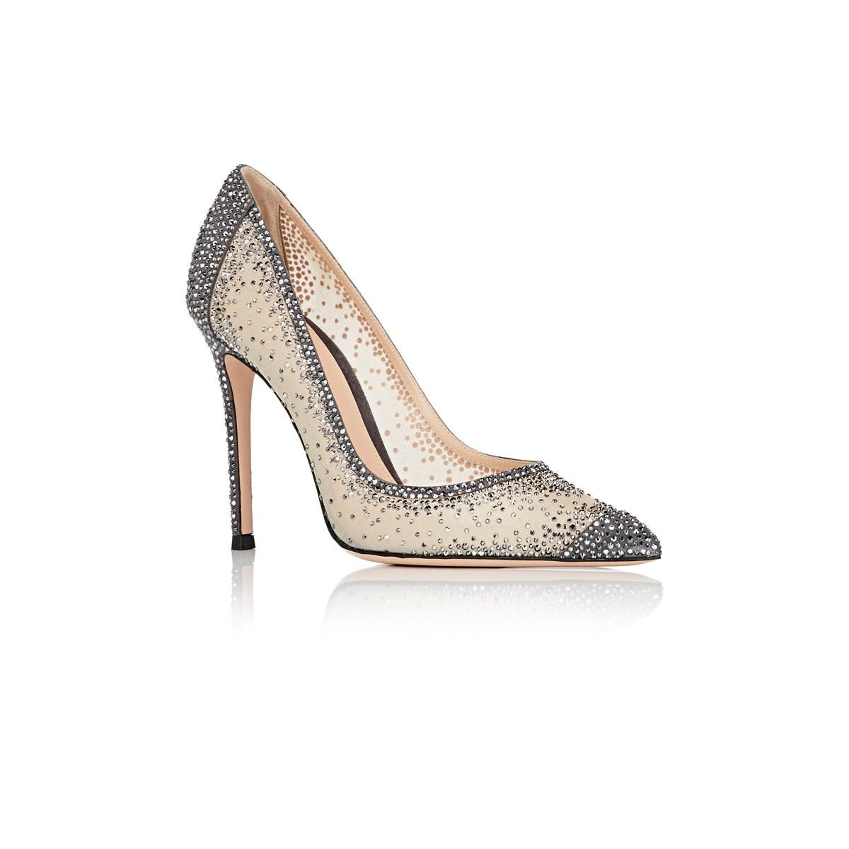 3336dfd5c6c1 Gianvito Rossi - Gray Rania Crystal-embellished Pumps - Lyst. View  fullscreen