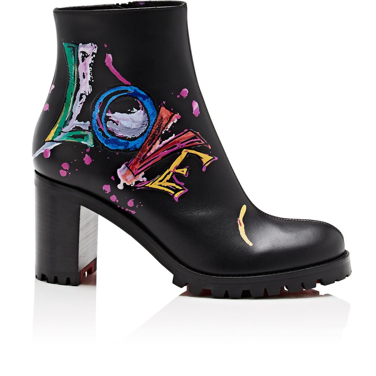 4652d96a38cc ... low cost christian louboutin. womens black love me leather ankle boots  890ec e2fa0