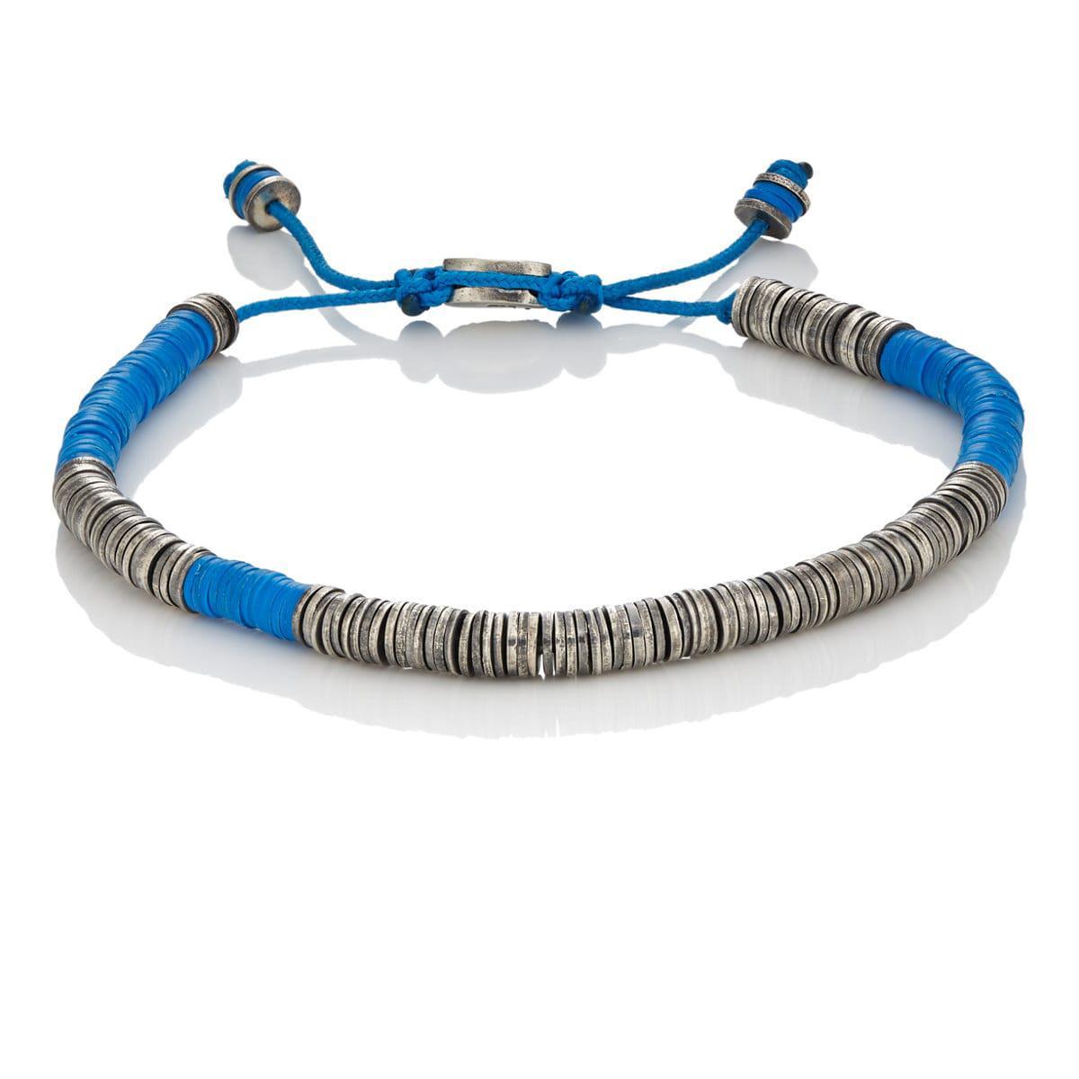 M. Cohen Mens Rectangular-Beads & Knotted Cord Bracelet BL9ZRC5m