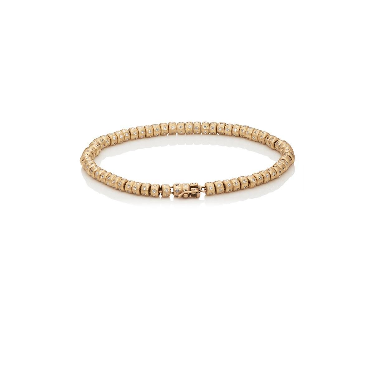 fa0c37379 Luis Morais White-diamond-embellished Beaded Bracelet in Metallic ...