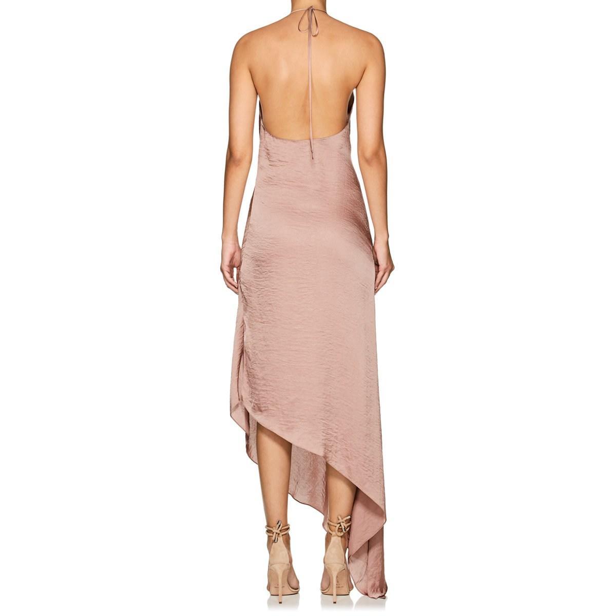 422af605e4c3 Juan Carlos Obando - Pink Washed Satin Backless Gown - Lyst. View fullscreen