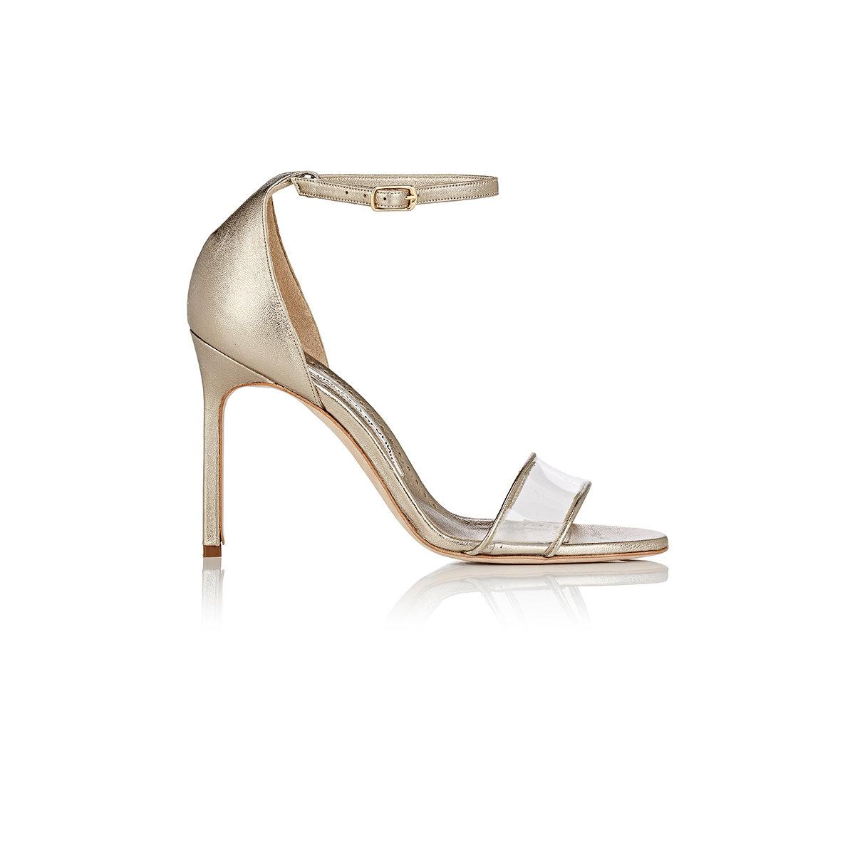 supply for sale many kinds of Manolo Blahnik Metallic PVC-Trimmed Sandals Z3gL7JdVmq