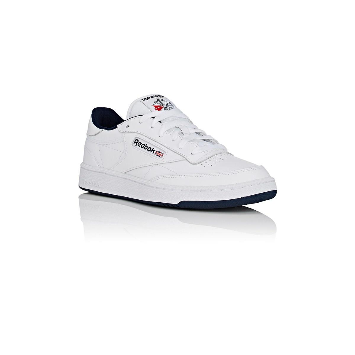 b7dcce5c57a Reebok - White Club C 85 Leather Low-top Sneakers for Men - Lyst. View  fullscreen