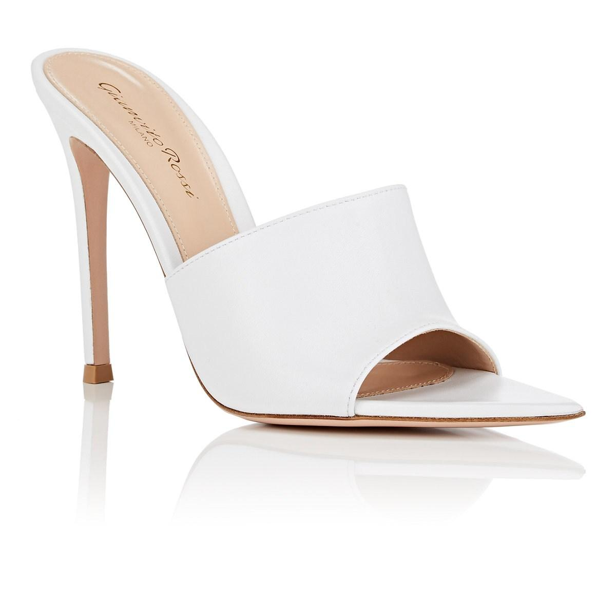 97b4e271bb2 Gianvito Rossi - White Alise Leather Mules - Lyst. View fullscreen