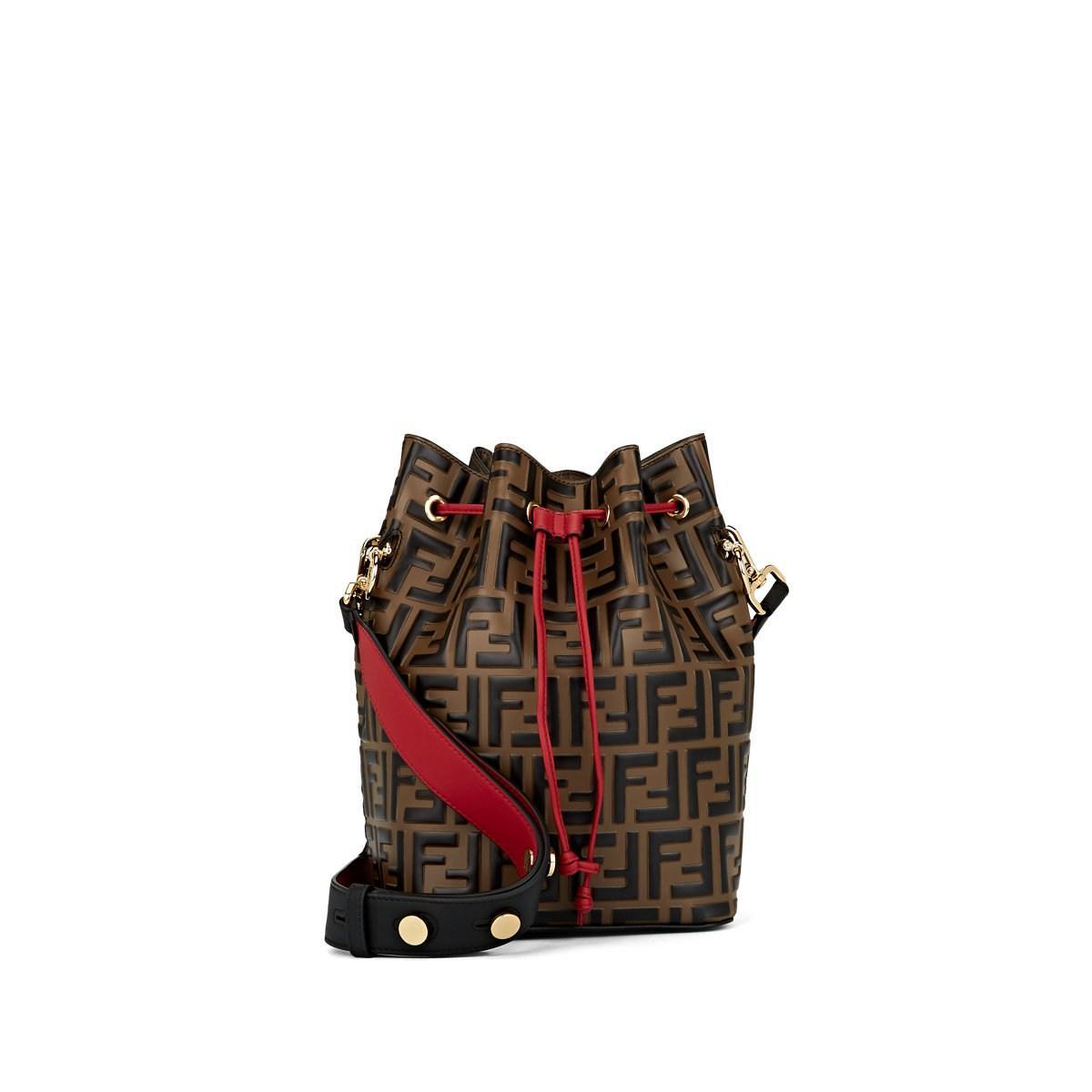 Fendi. Women s Mon Tresor Large Leather Bucket Bag ed8ad59e2d0d3