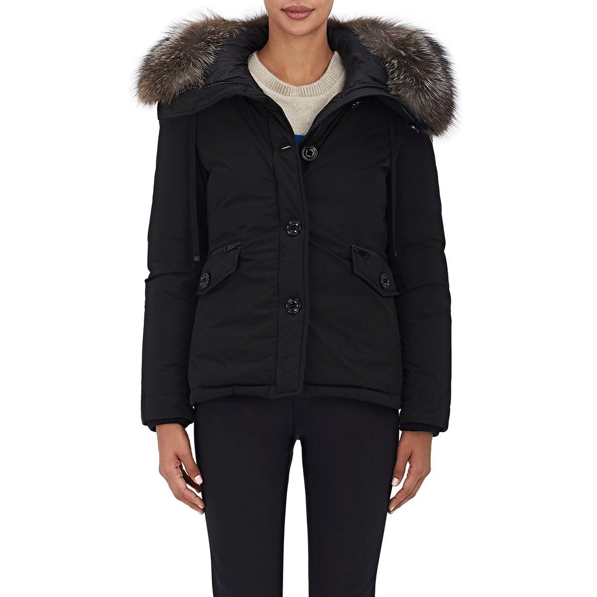 0abc986e2 Moncler Malus Fur-trimmed Down Jacket in Black - Save 12% - Lyst