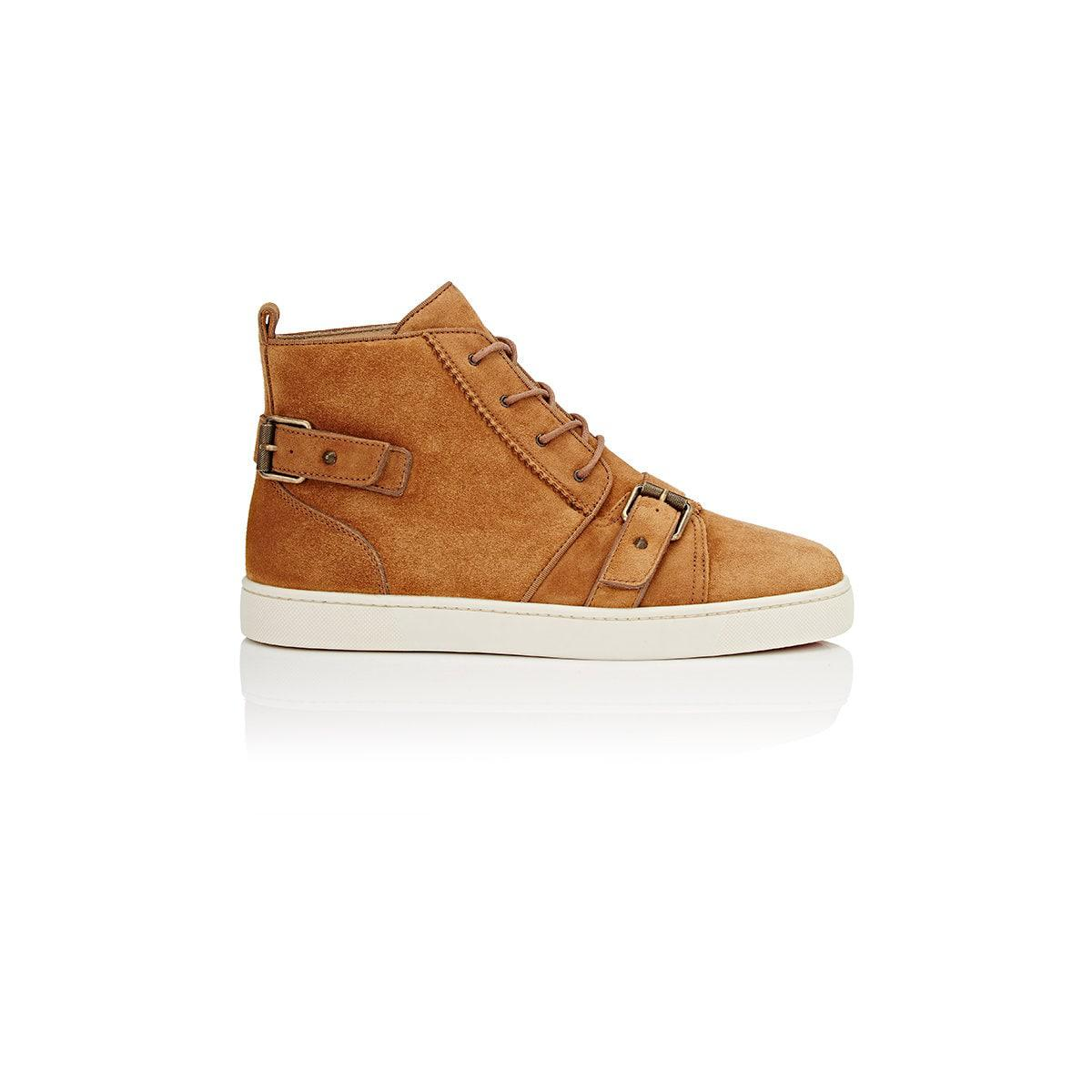 12eac2f1060 Lyst - Christian Louboutin Nono Strap Suede Sneakers for Men