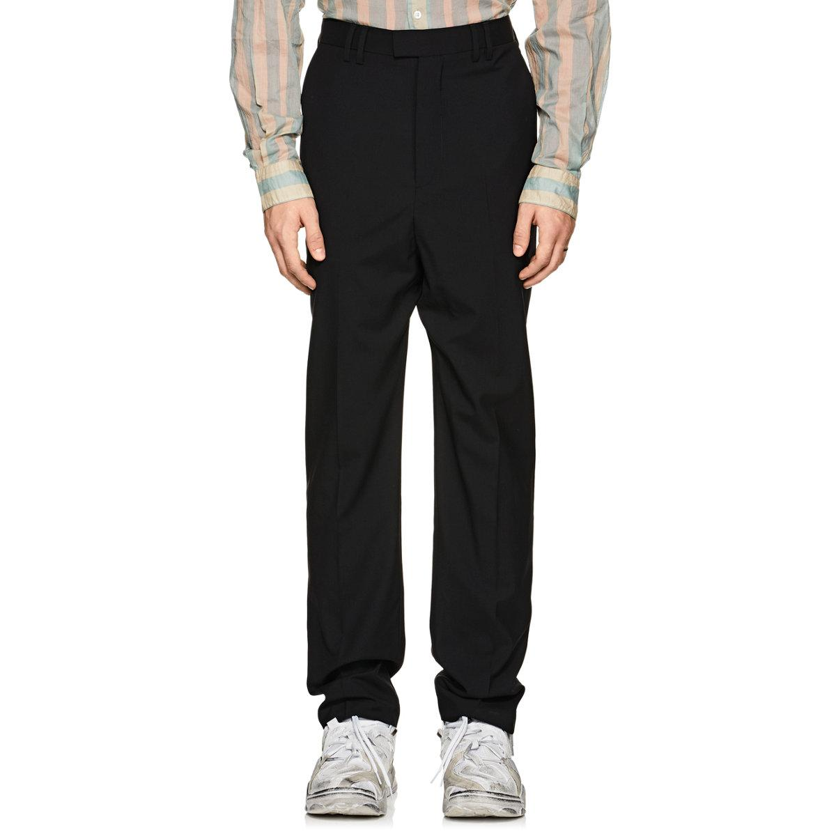 Mens Drop-Rise Wool Trousers Martine Rose OMauL