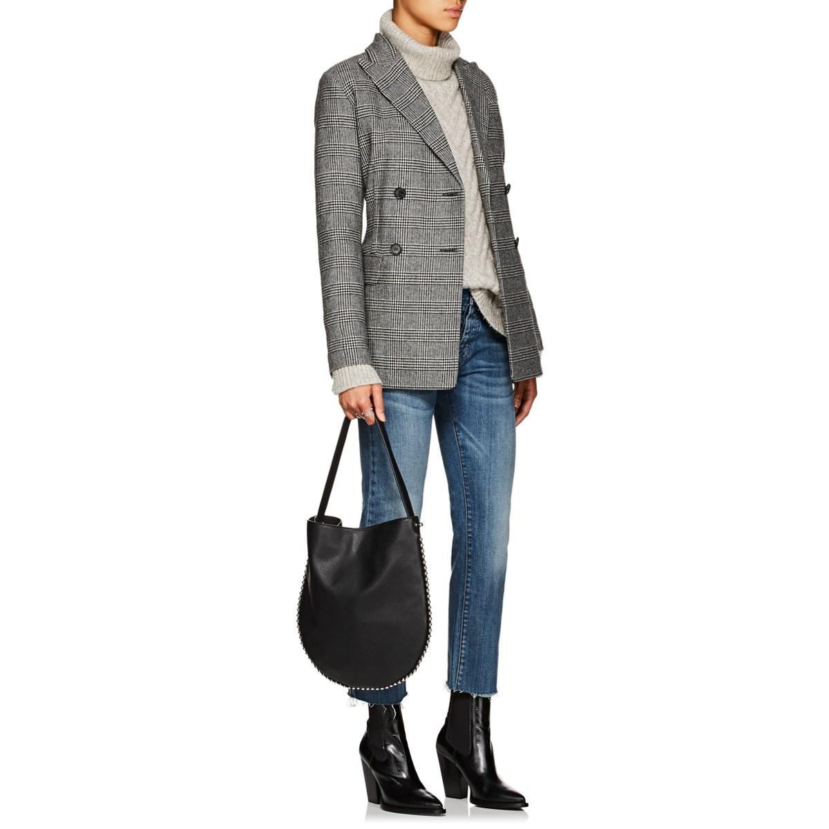 Nili Lotan - Gray Lee Cable-knit Wool-blend Turtleneck Sweater - Lyst. View  fullscreen 1c8f76b1e