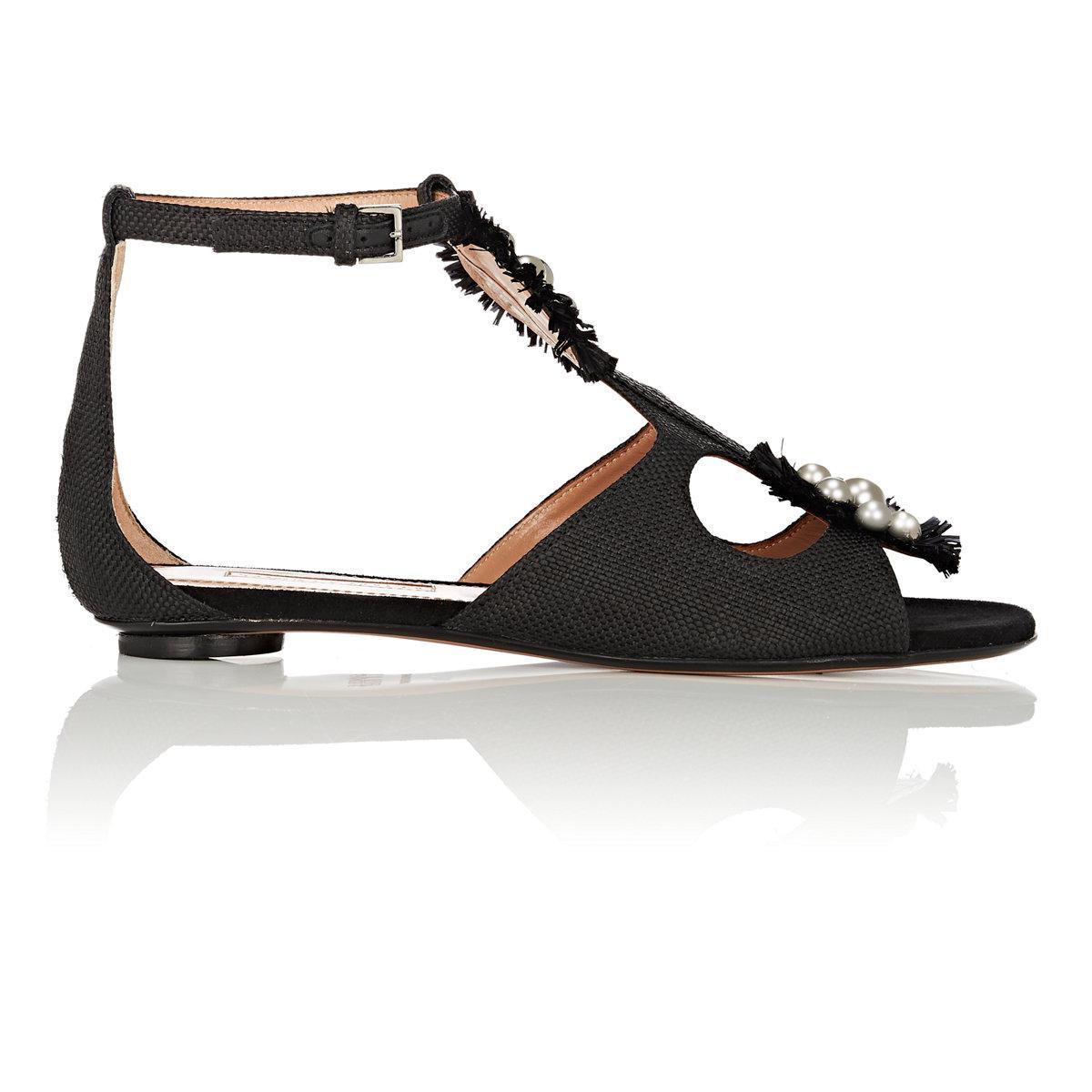 Liya stud-embellished raffia sandals Samuele Failli Outlet With Paypal Order Online 6mjSenF4