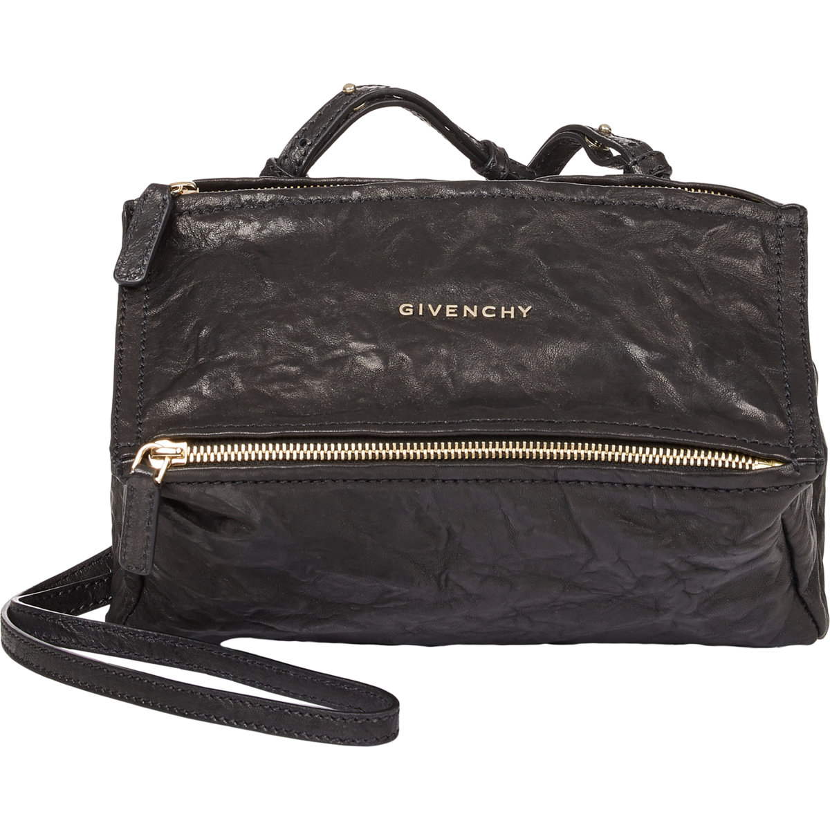 Womens Pandora Pepe Mini Patent Leather Messenger Bag Givenchy