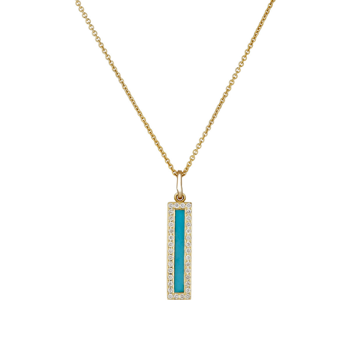 meyer mixed gemstone bar pendant necklace in