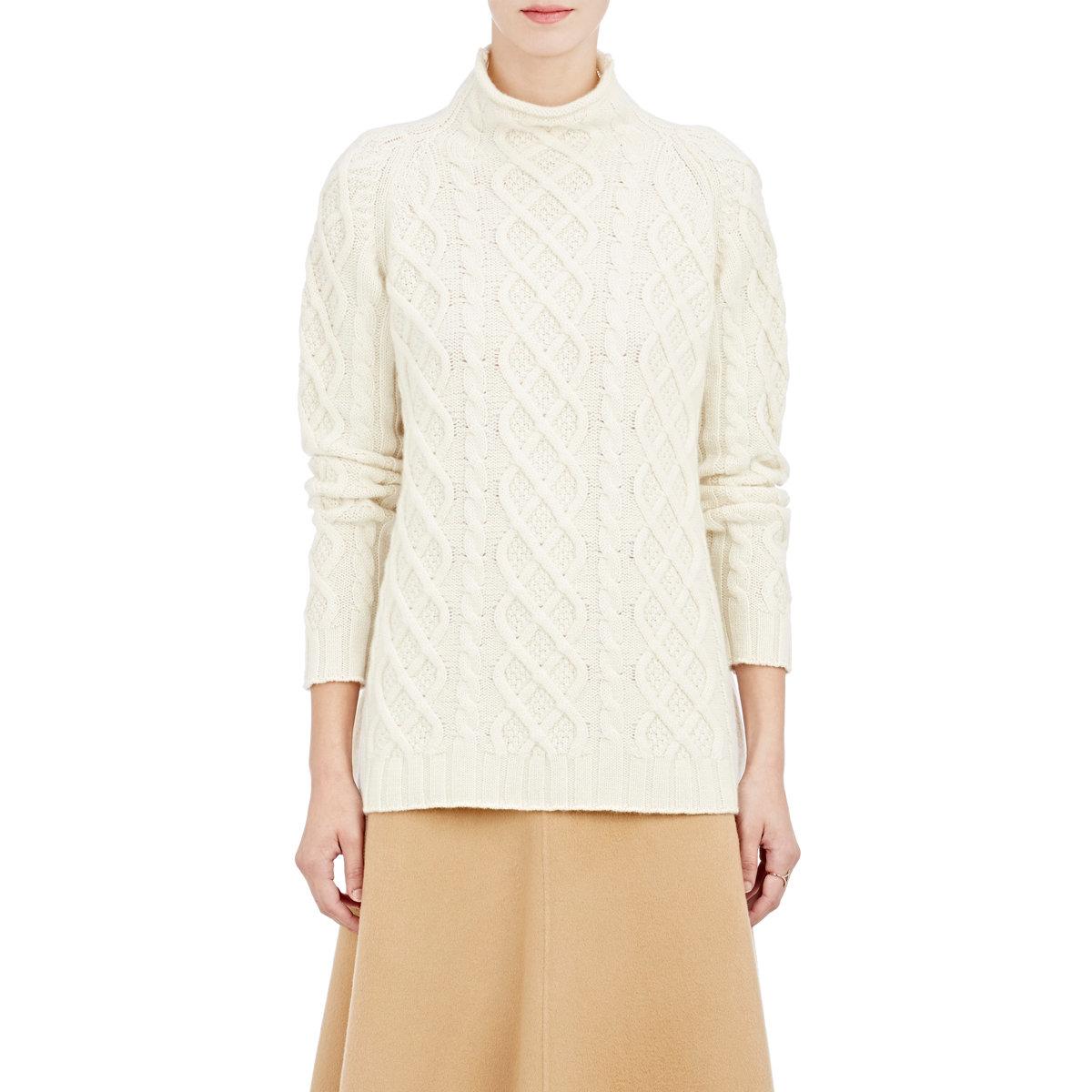 Fishermans Sweater White Womens 72