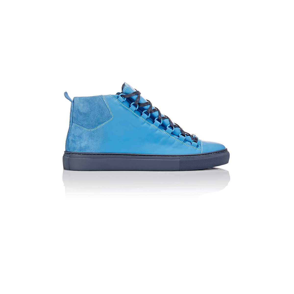 490926b6f3b6 Lyst - Balenciaga Arena Sprayed Suede High-Top Sneakers in Blue for Men