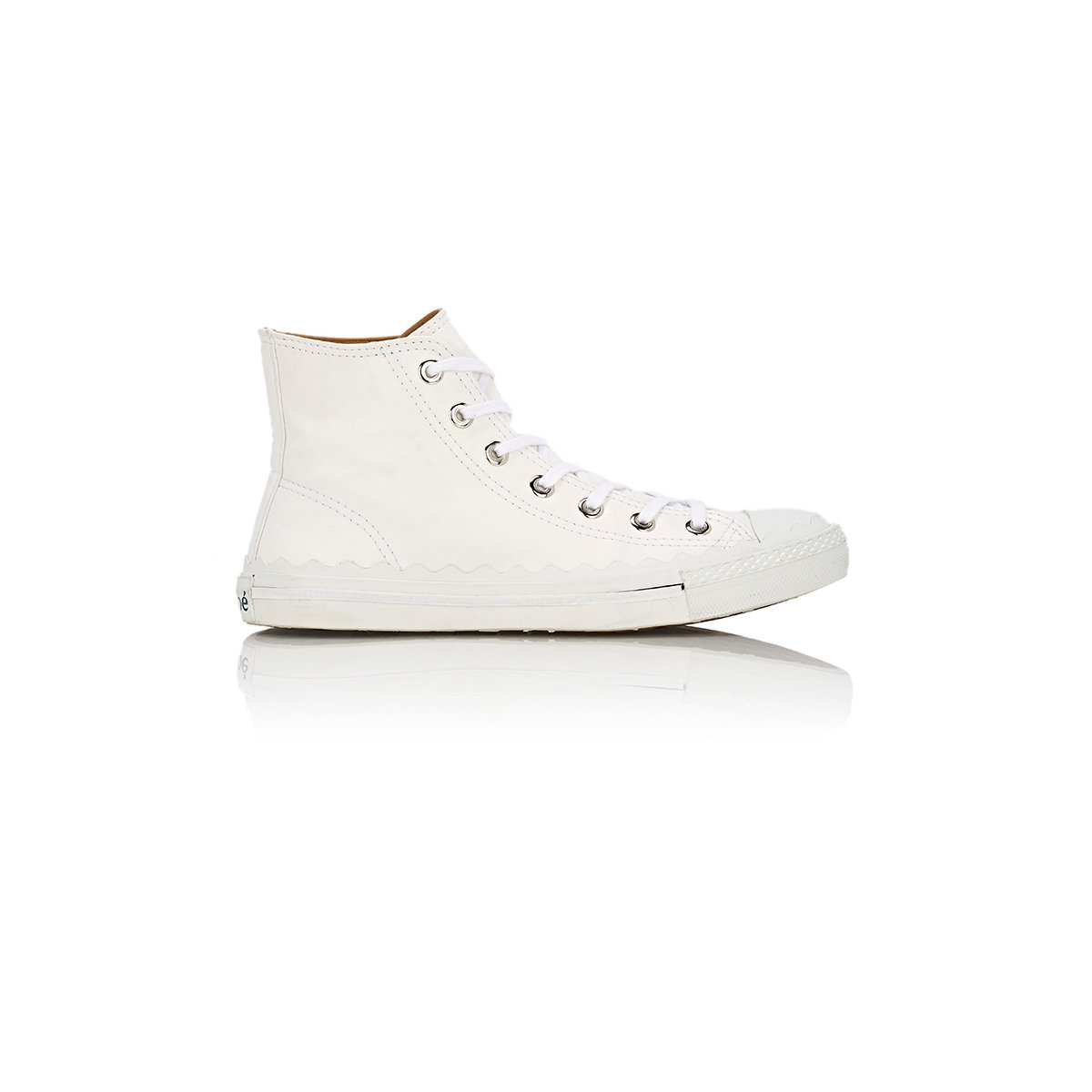 chlo leather kyle sneakers in white save 61 lyst. Black Bedroom Furniture Sets. Home Design Ideas