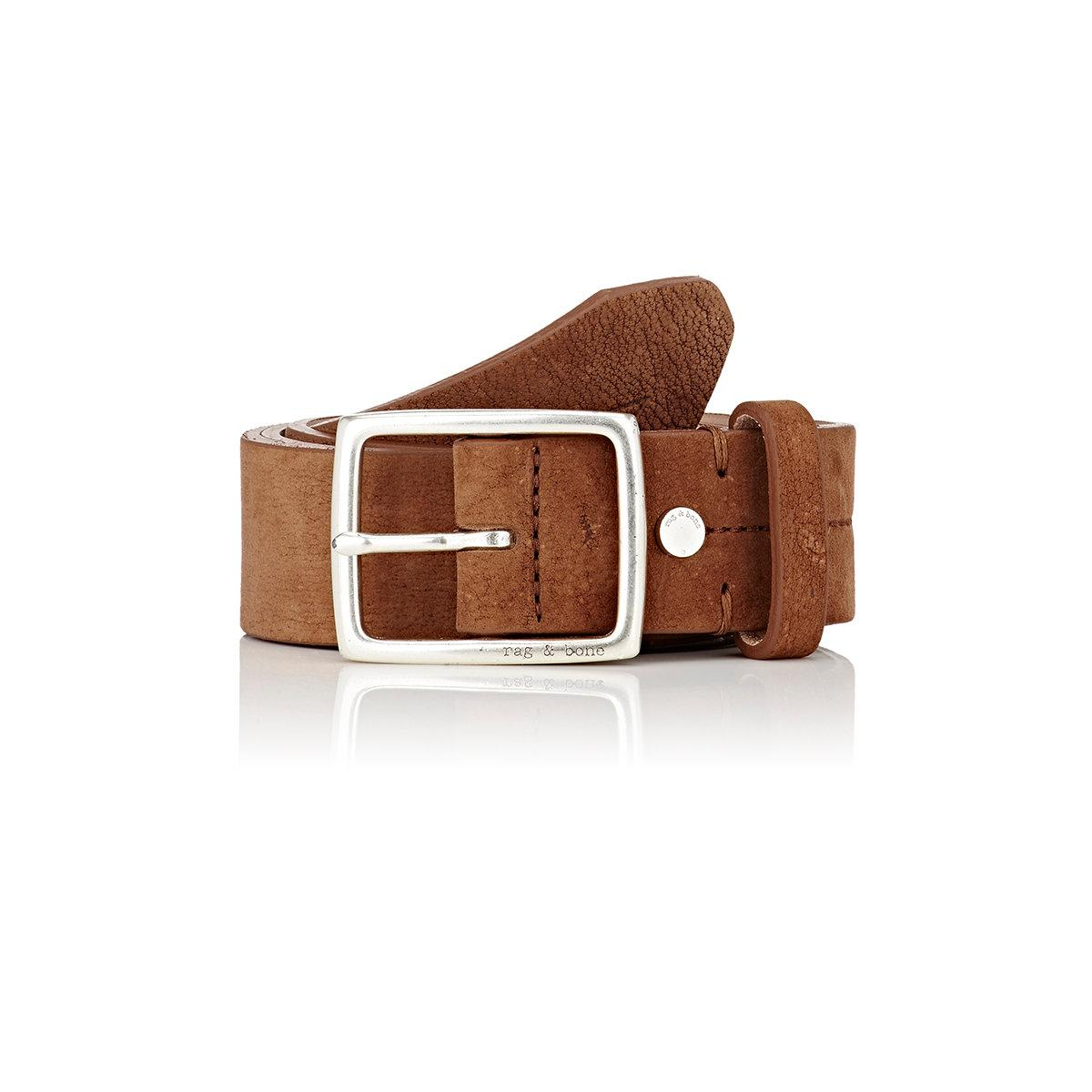 rag bone suede belt in brown for save 37 lyst