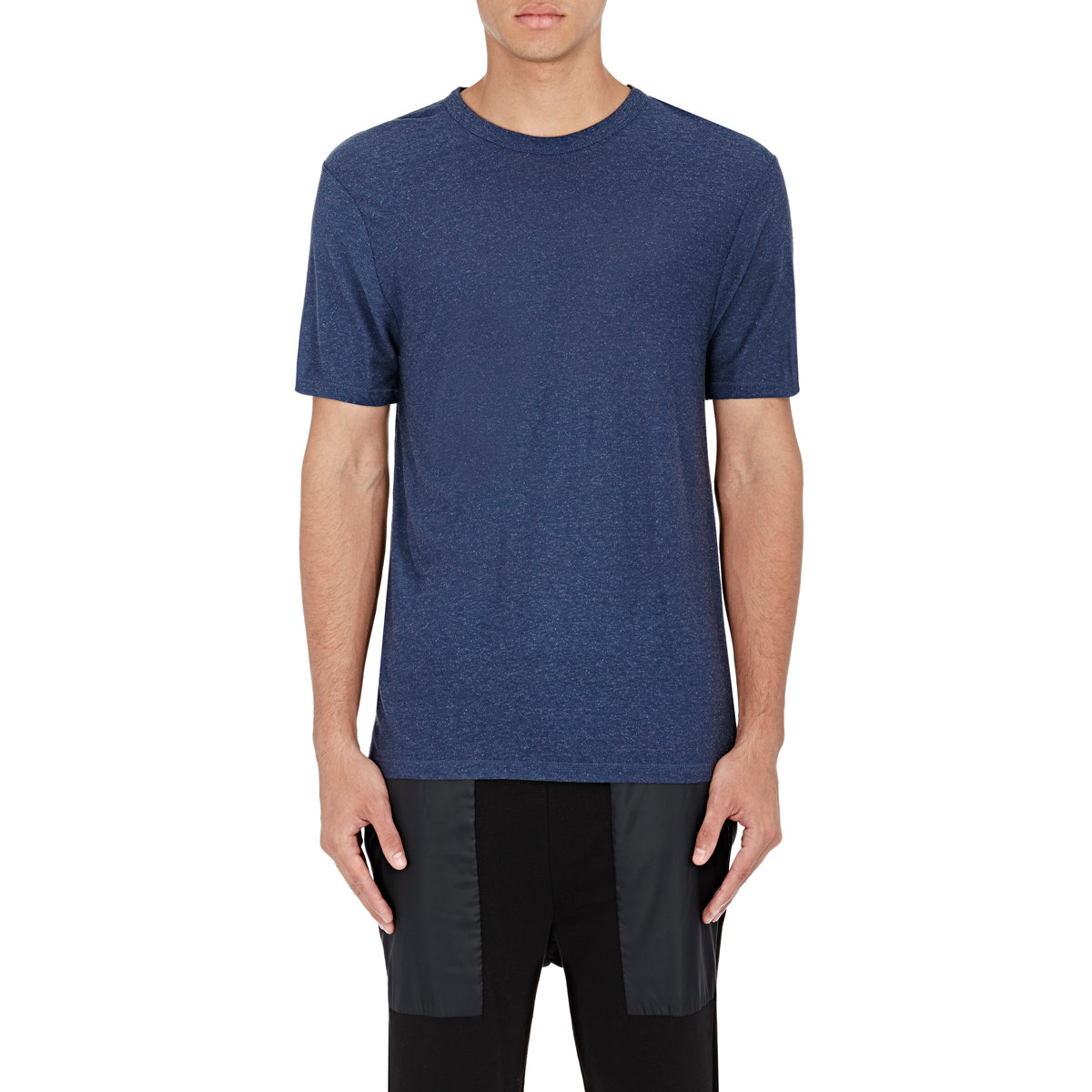 T By Alexander Wang Slub Jersey T Shirt In Blue For Men Lyst
