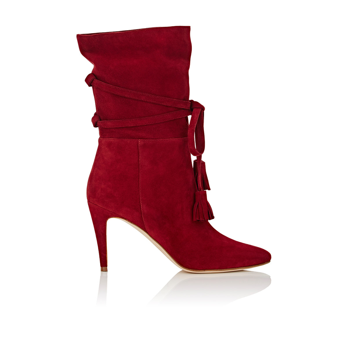 manolo blahnik cavamod suede ankle boots in lyst