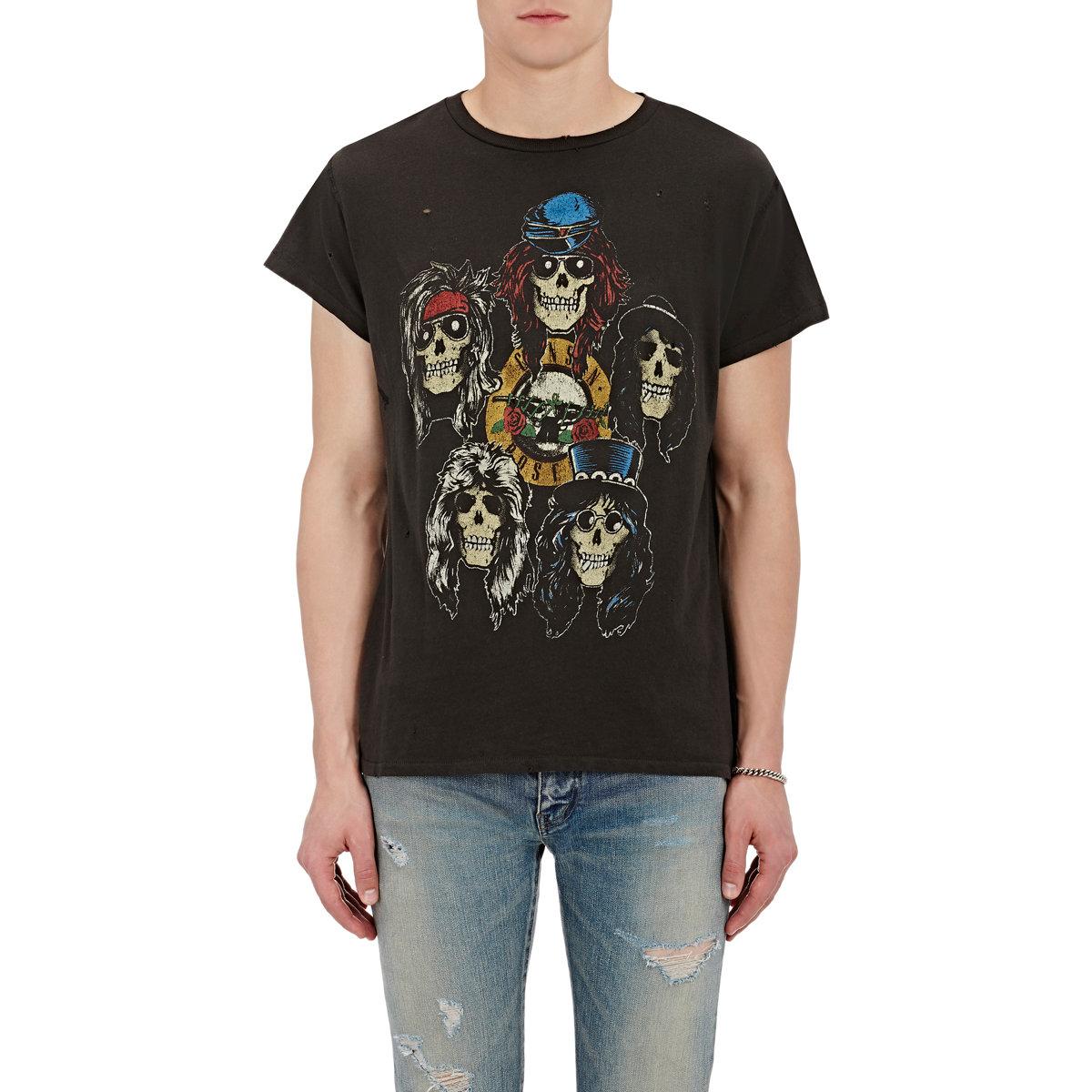 Madeworn Guns N 39 Roses Cotton T In Black For Men Lyst