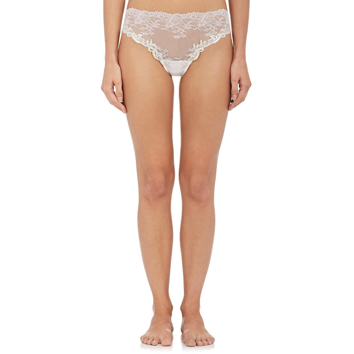 Nina Ricci Women S Natural Lace And Tulle Briefs