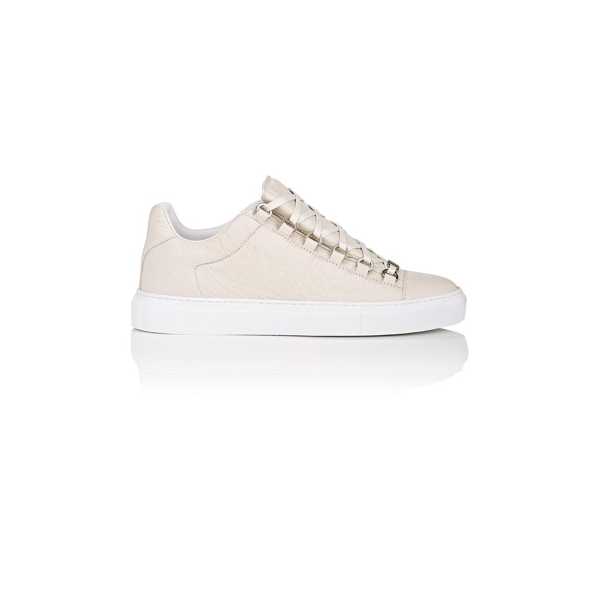 balenciaga arena low top sneakers in white lyst. Black Bedroom Furniture Sets. Home Design Ideas