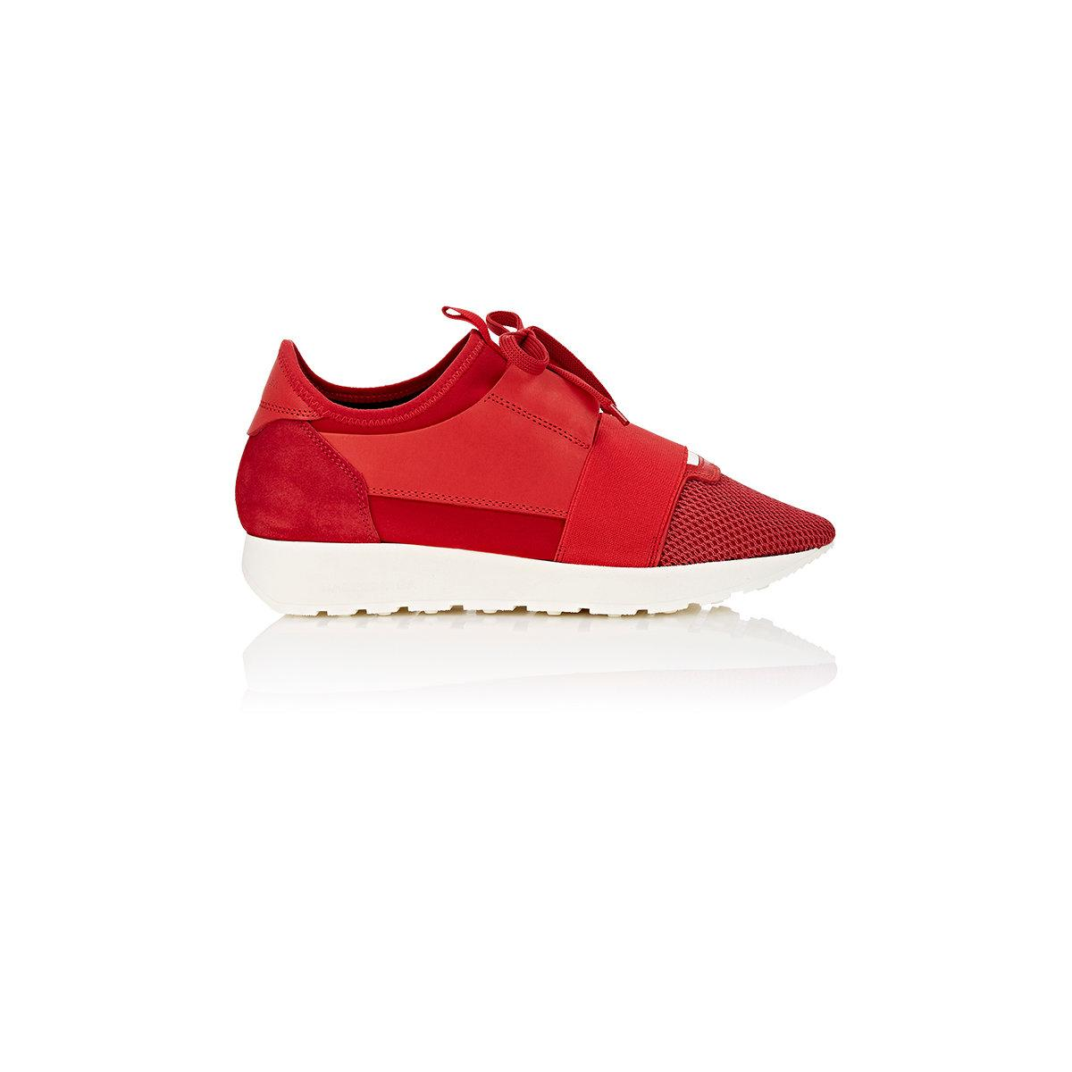 balenciaga race runner sneakers in red lyst