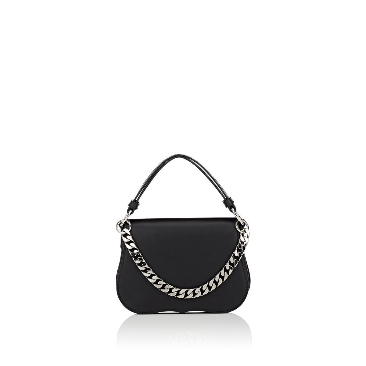 b28d92fff4f CALVIN KLEIN 205W39NYC Western Mini Leather Shoulder Bag in Black - Lyst
