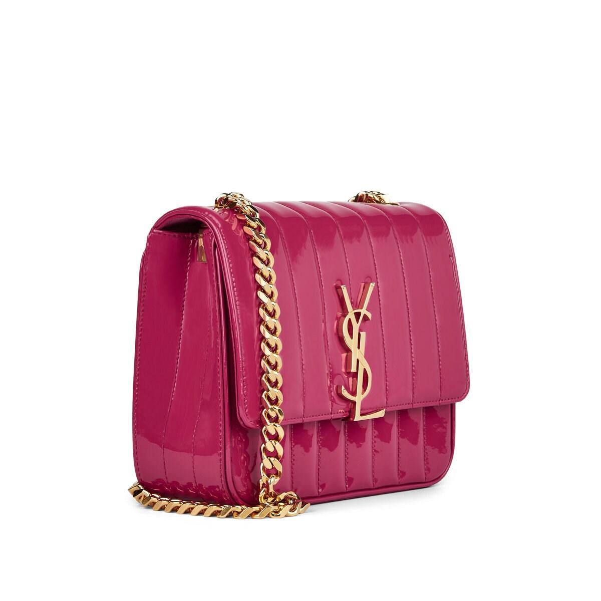 c5207d1f791 Saint Laurent - Pink Monogram Vicky Medium Leather Chain Bag - Lyst. View  fullscreen