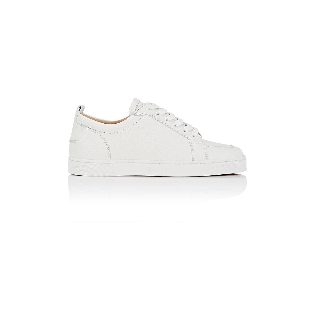 cacc9f9e2773 ... canada christian louboutin. mens white rantulow flat leather sneakers  7de89 d03c8