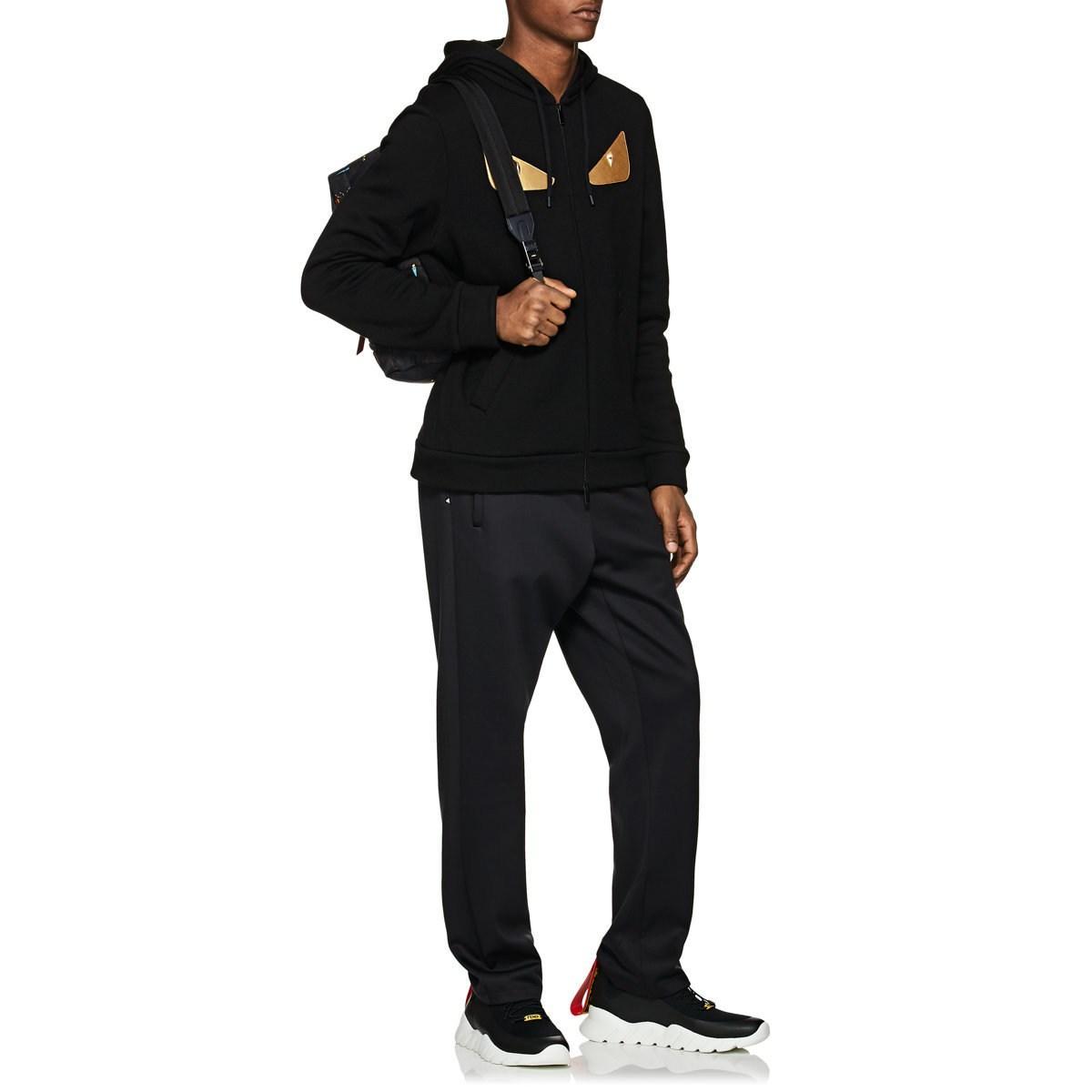 f51d1c56e2f5 Fendi - Black Bag Bugs Zipped Sweatshirt for Men - Lyst. View fullscreen