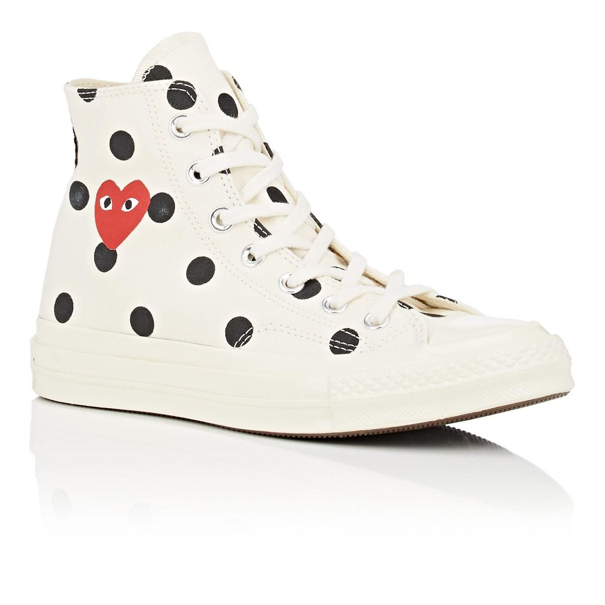 f7b116475eff COMME DES GARÇONS PLAY - White Chuck Taylor  70s Canvas Sneakers for Men -  Lyst. View fullscreen
