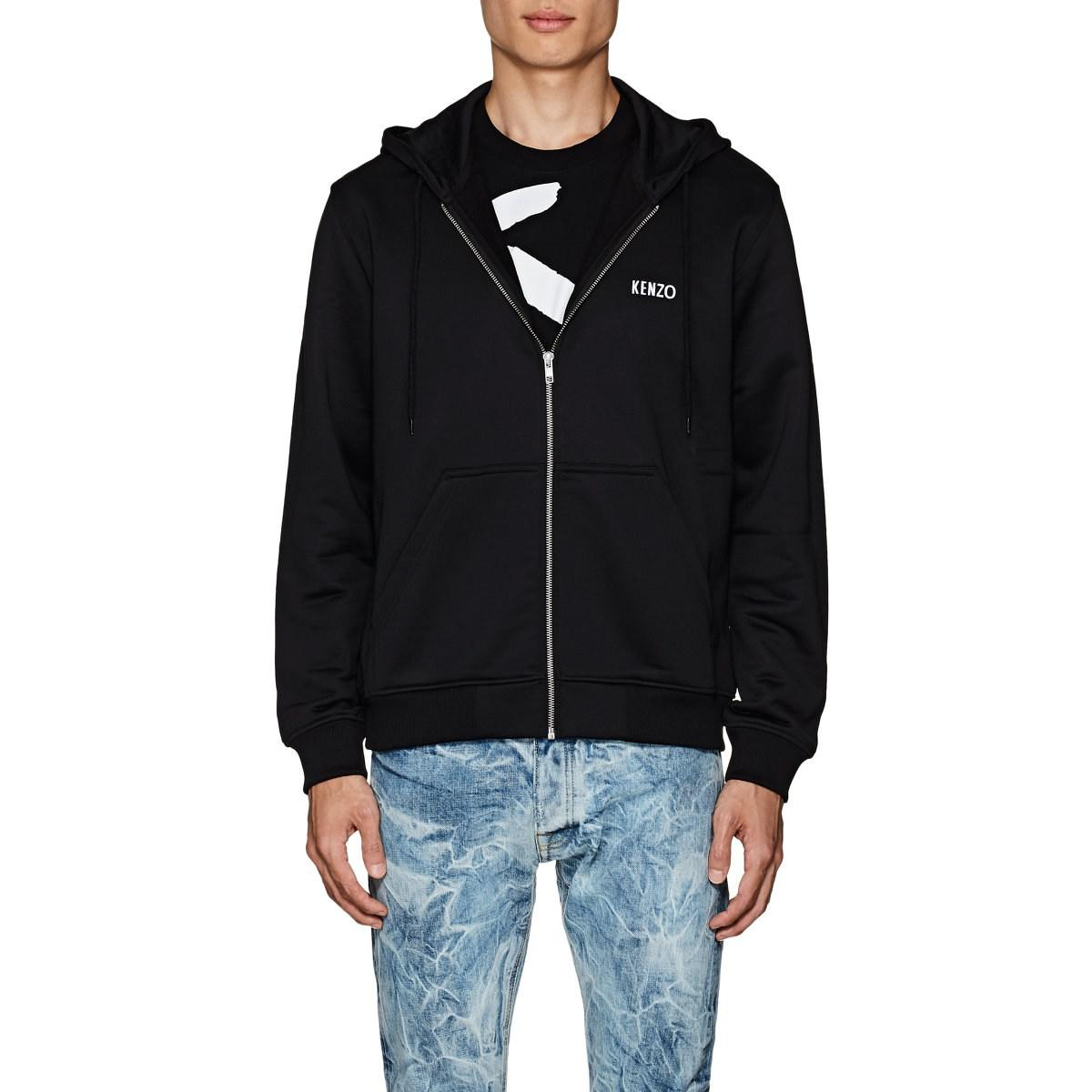 03c6b4431 KENZO - Black Studded-dragon Cotton-blend Terry Hoodie for Men - Lyst. View  fullscreen