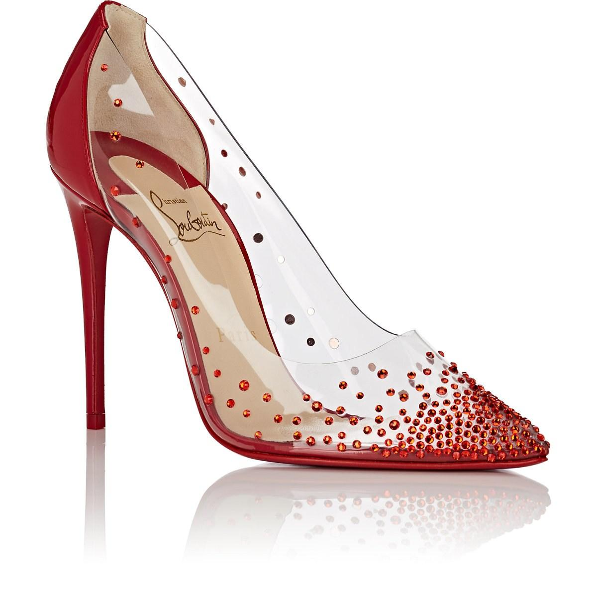 65147eb9b028 Christian Louboutin Degrastrass Pvc   Leather Pumps in Red - Lyst