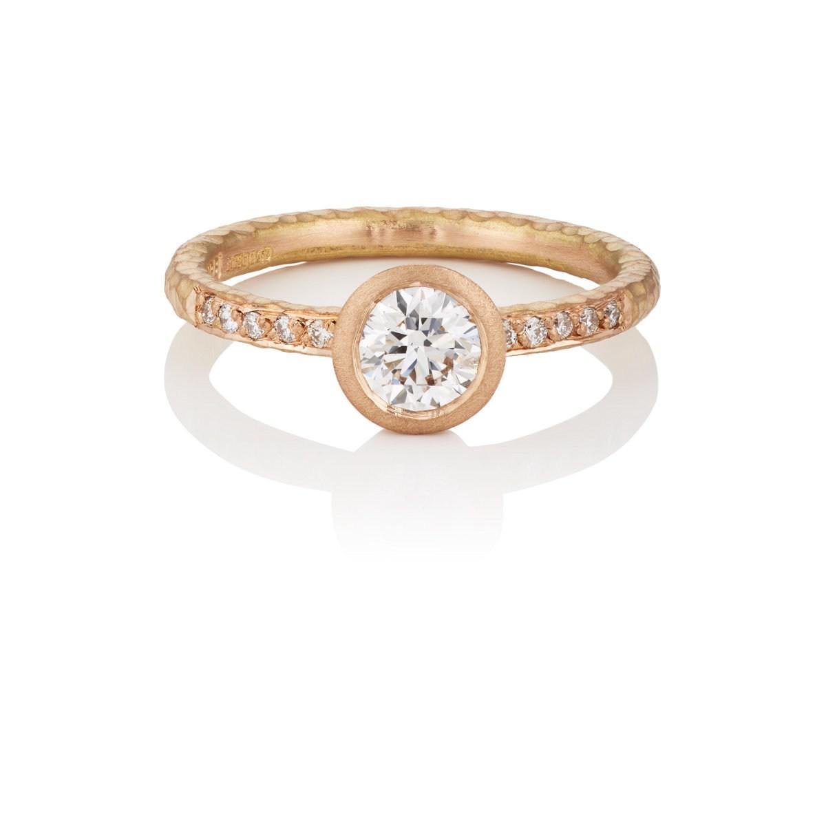 Malcolm Betts Womens Round White Diamond Ring yZTowHa