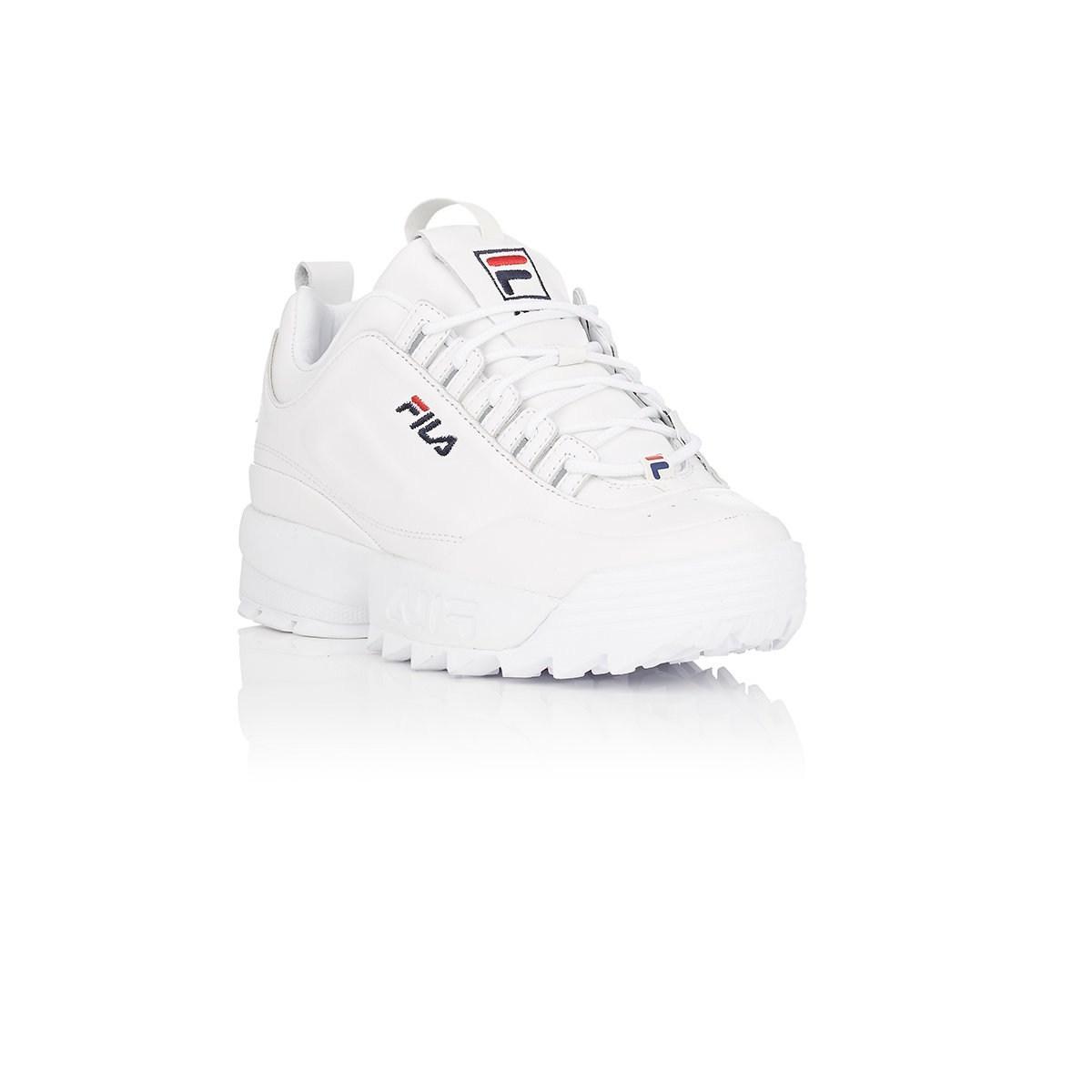 13dfac73c7a5 Fila - White Disruptor 2 Lux Leather Sneakers - Lyst. View fullscreen