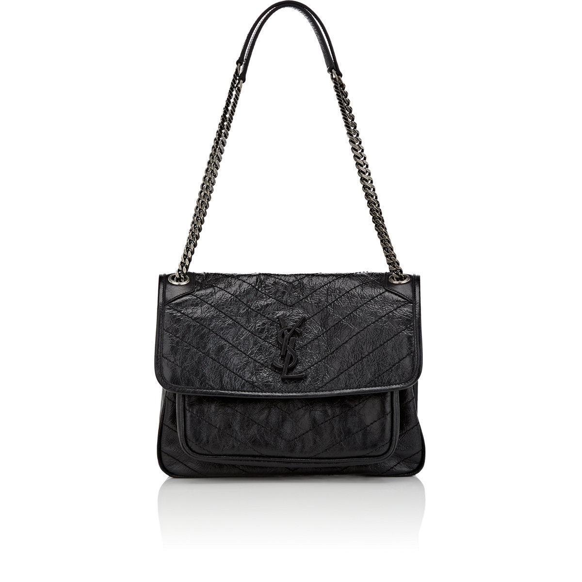 e09f5ff48fbd Saint Laurent Nolita Medium Chain Bag In Vintage Leather. Saint laurent  Monogram Niki Medium Leather Shoulder Bag in Black