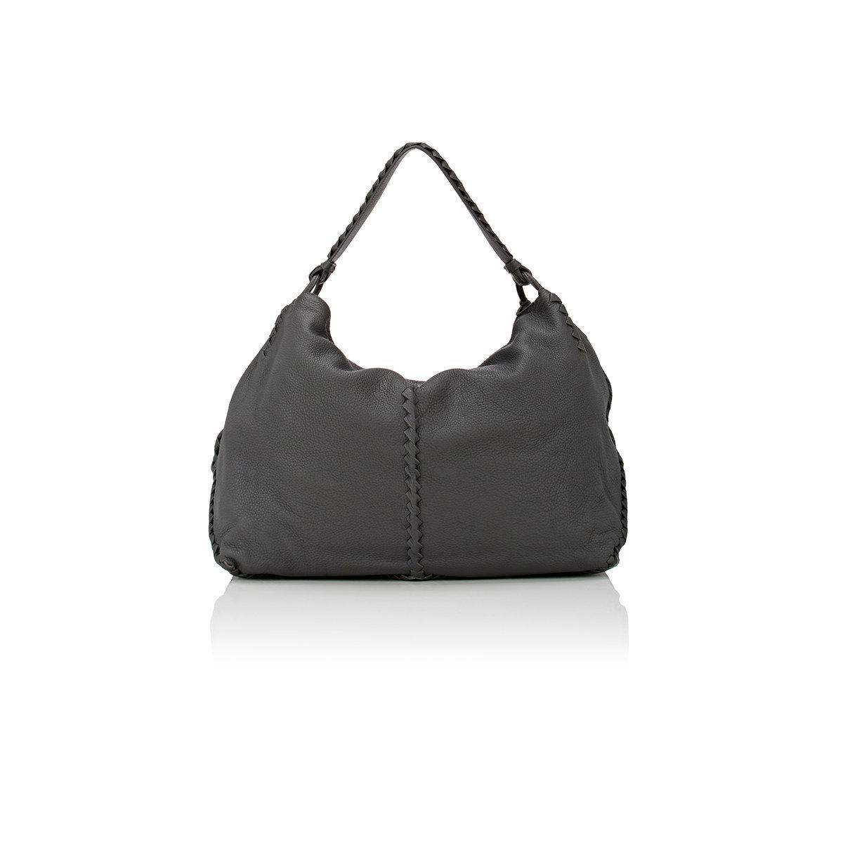 4116db56793b Bottega Veneta Intrecciato Cervo Large Shoulder Bag in Gray - Lyst